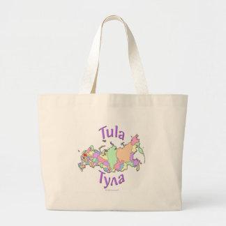 Tula City Russia Map Large Tote Bag