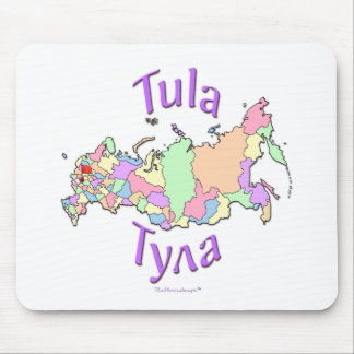 Tula City Russia Map Mouse Pad