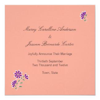 Tula Floral Batik Wedding Announcement