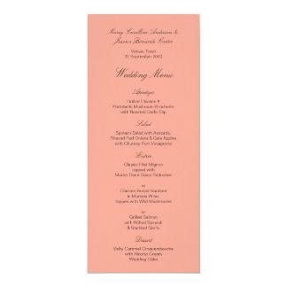 Tula Floral Batik Wedding Menu Card