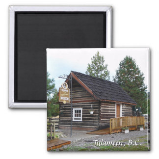 Tulameen BC Schoolhouse Museum 2 Inch Square Magnet