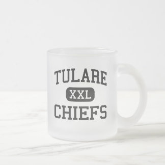 Tulare - Chiefs - High - Tulare South Dakota Frosted Glass Coffee Mug
