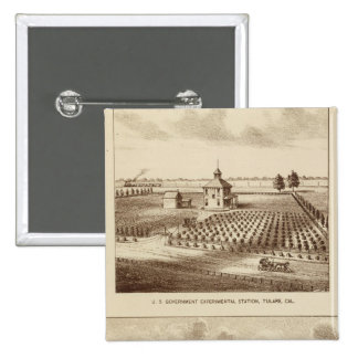 Tulare Co ranch, station 2 Inch Square Button