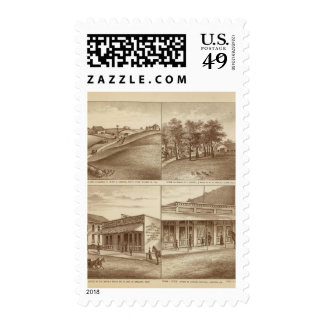Tulare Co ranches, offices Stamp