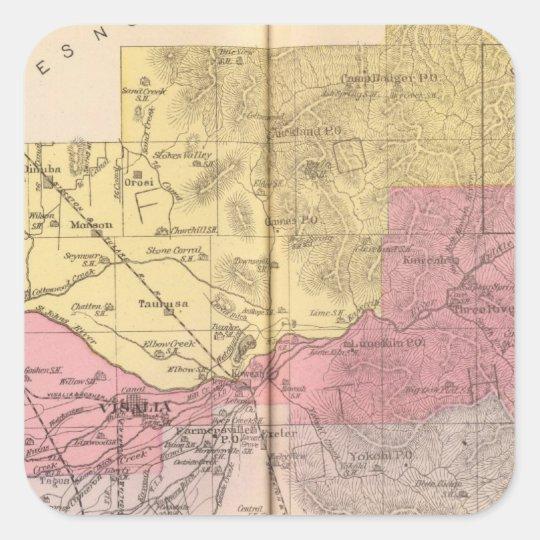 Tulare County, California Square Sticker