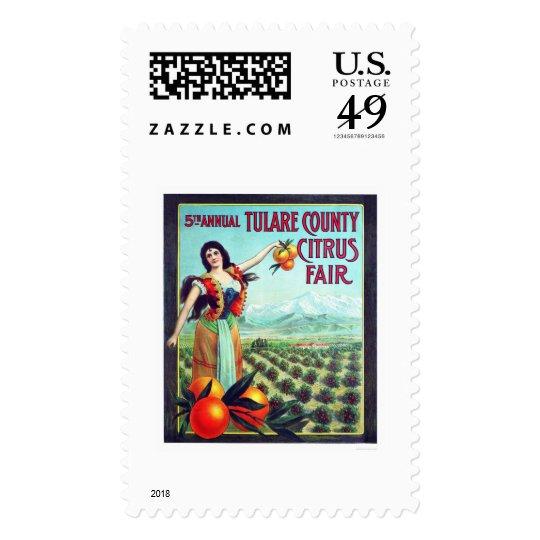 Tulare County Citrus Fair Postage