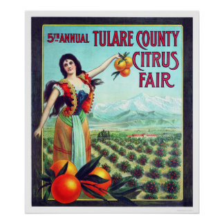 Tulare County Citrus Fair Poster