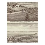 Tulare farms postcard