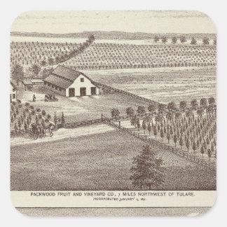 Tulare farms square sticker