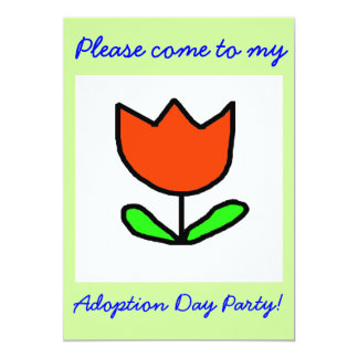 "Tulip Adoption Day Party invitation 5"" X 7"" Invitation Card"