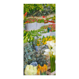 Tulip and Flower Market in Amsterdam Rack Card