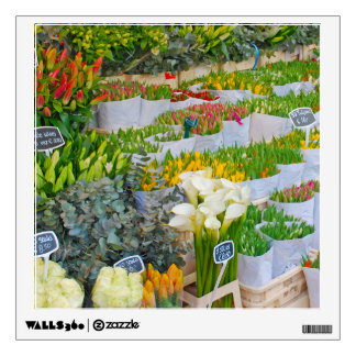 Tulip and Flower Market in Amsterdam Wall Decal