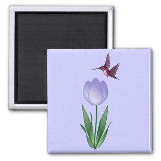 Tulip and Hummingbird Magnet