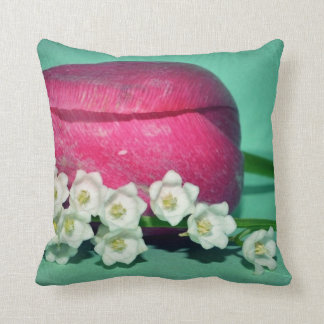 Tulip and Lily-of-the-Valley Pillow