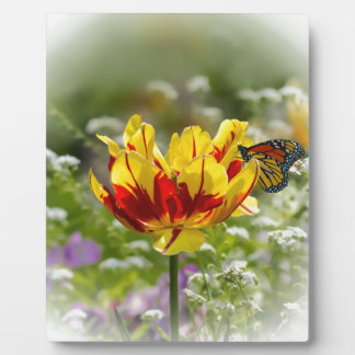 Tulip and Monarch Butterfly Plaque