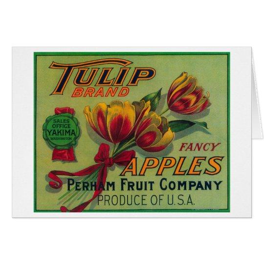 Tulip Apple Crate LabelYakima, WA Card