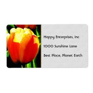 Tulip Art Personalized Shipping Label