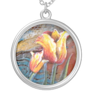 Tulip Art Necklace