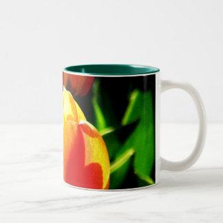Tulip Art Two-Tone Coffee Mug