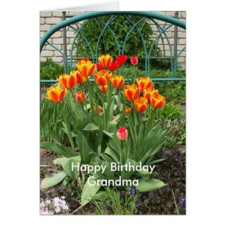 Tulip Bed for Grandma Card