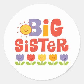 Tulip Big Sister Classic Round Sticker
