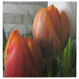 Tulip blooms American Mojo Printed Napkin
