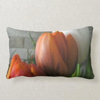 Tulip blooms American Mojo Pillow