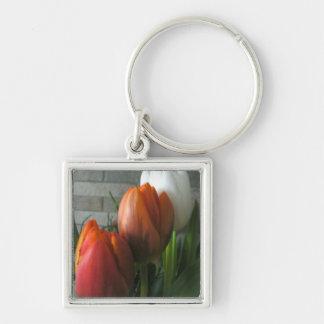 Tulip blooms keychain