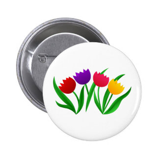 Tulip Blooms Pinback Button