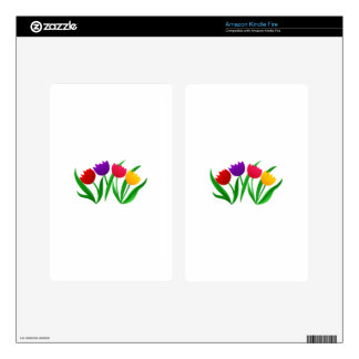 Tulip Blooms Skins For Kindle Fire