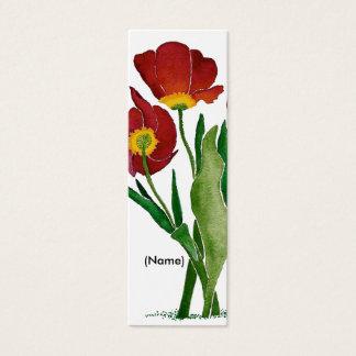 Tulip Bookmark Personalized Mini Business Card