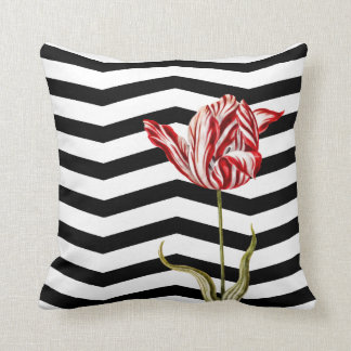 Tulip Botanical Chevron Stripe Pattern Pillows