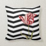 Tulip Botanical Chevron Stripe Pattern Pillows