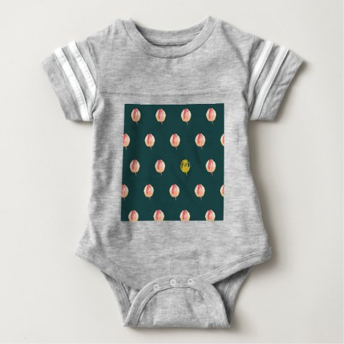 Tulip bulbs baby bodysuit
