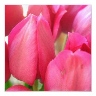 """Tulip Bulbs Invitations 5.25"""" Square Invitation Card"""