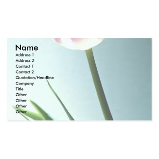 Tulip Double-Sided Standard Business Cards (Pack Of 100)