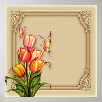 Tulip Butterflies Corporate Office Wall Art
