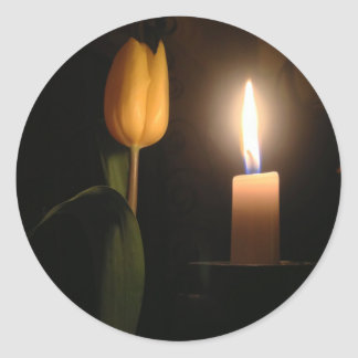 Tulip by Candlelight Classic Round Sticker