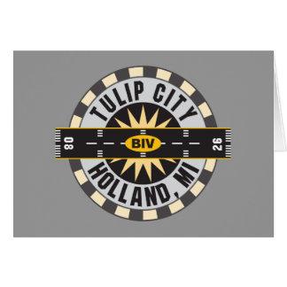 Tulip City BIV Airport Greeting Card