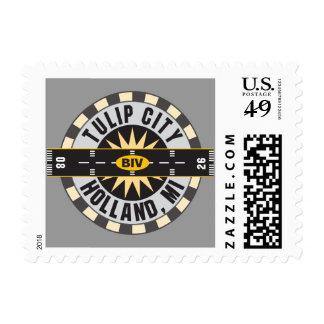 Tulip City BIV Airport Stamps