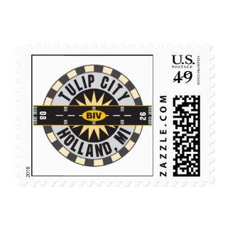 Tulip City BIV Airport Postage Stamp