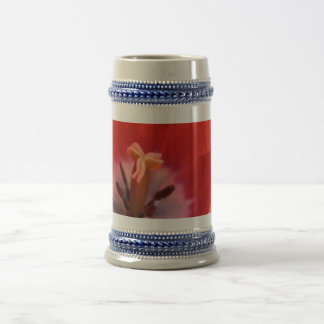 Tulip closeup beer stein