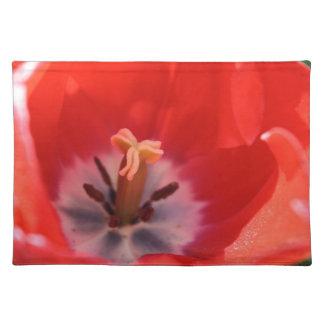 Tulip closeup cloth placemat