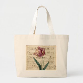 Tulip Collage Large Tote Bag