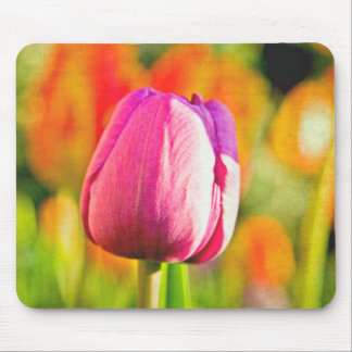 Tulip Collage Mouse Pad