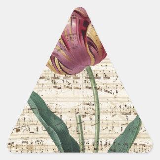 Tulip Collage Triangle Sticker