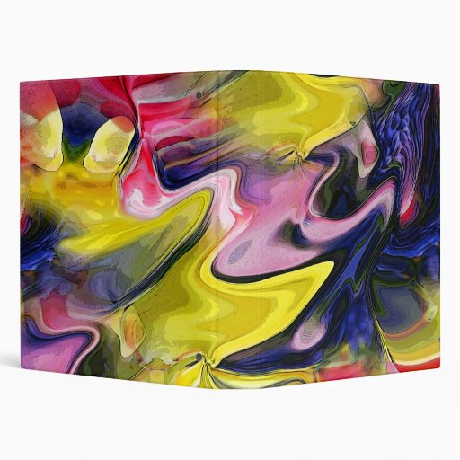 Tulip Colors Abstract 1-Inch Ring Binder