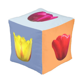 Tulip Cubed Pouf with Fire Wings/African Queen++