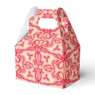 Tulip damask red patterned spring or Easter box