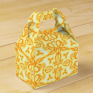 Tulip damask yellow patterned spring or Easter box